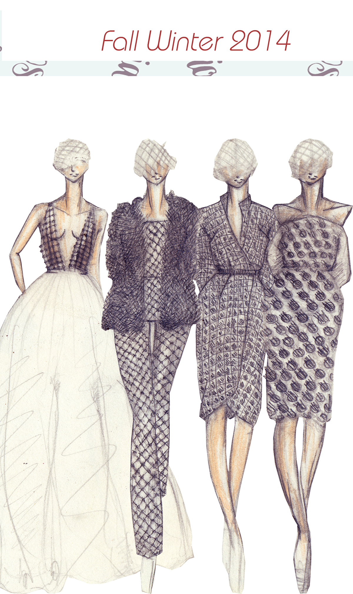 Fashion Sketches 2014 S Works On Behance