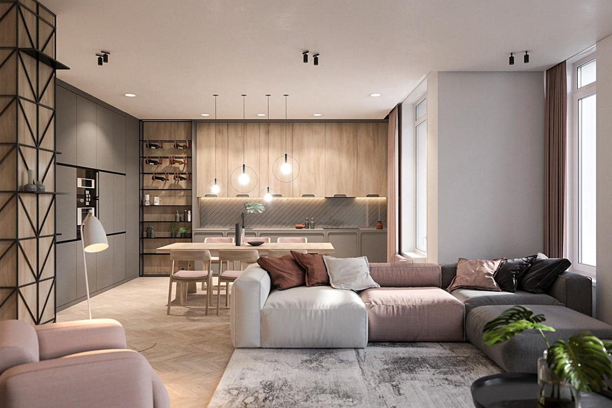 Richmond, the minimalist flat in the Scandinavian style on ...