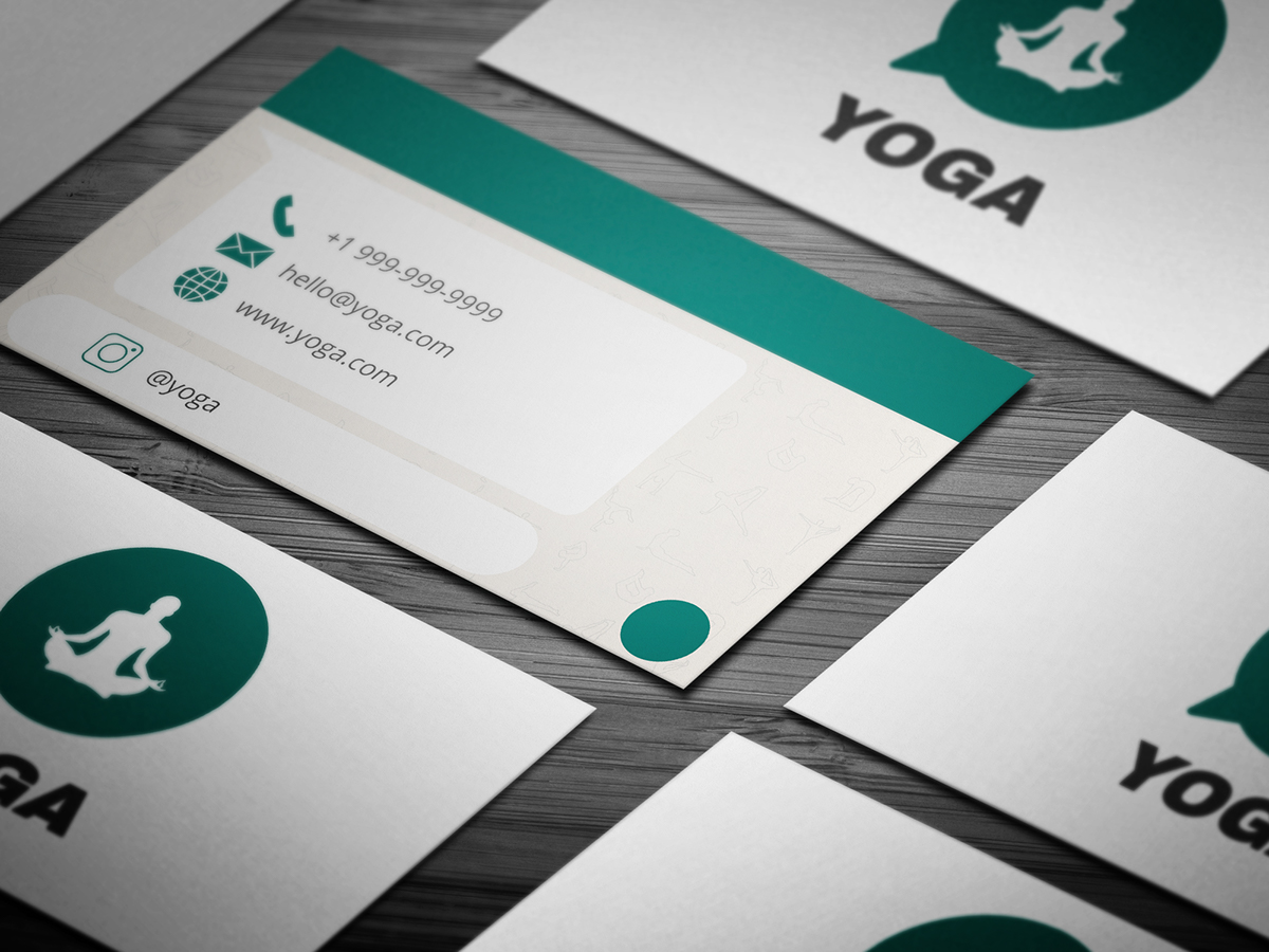 10+ FREE Professional Yoga Business Card Templates on Student Show
