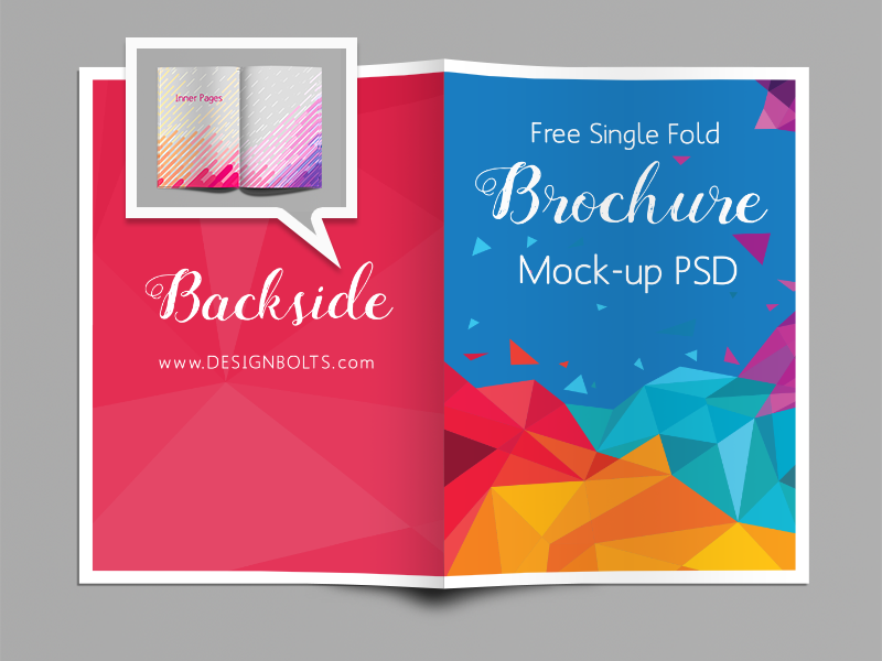 single fold brochure mock up psd psdblast