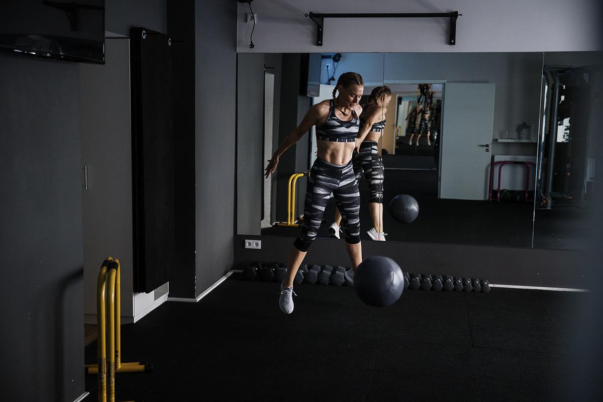 Image may contain: ball, wall and indoor