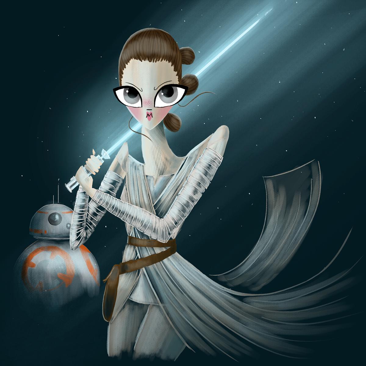 star wars rey Mad Max Furiosa marie antoinette sailor moon Hunger Games Katniss fan art fanart