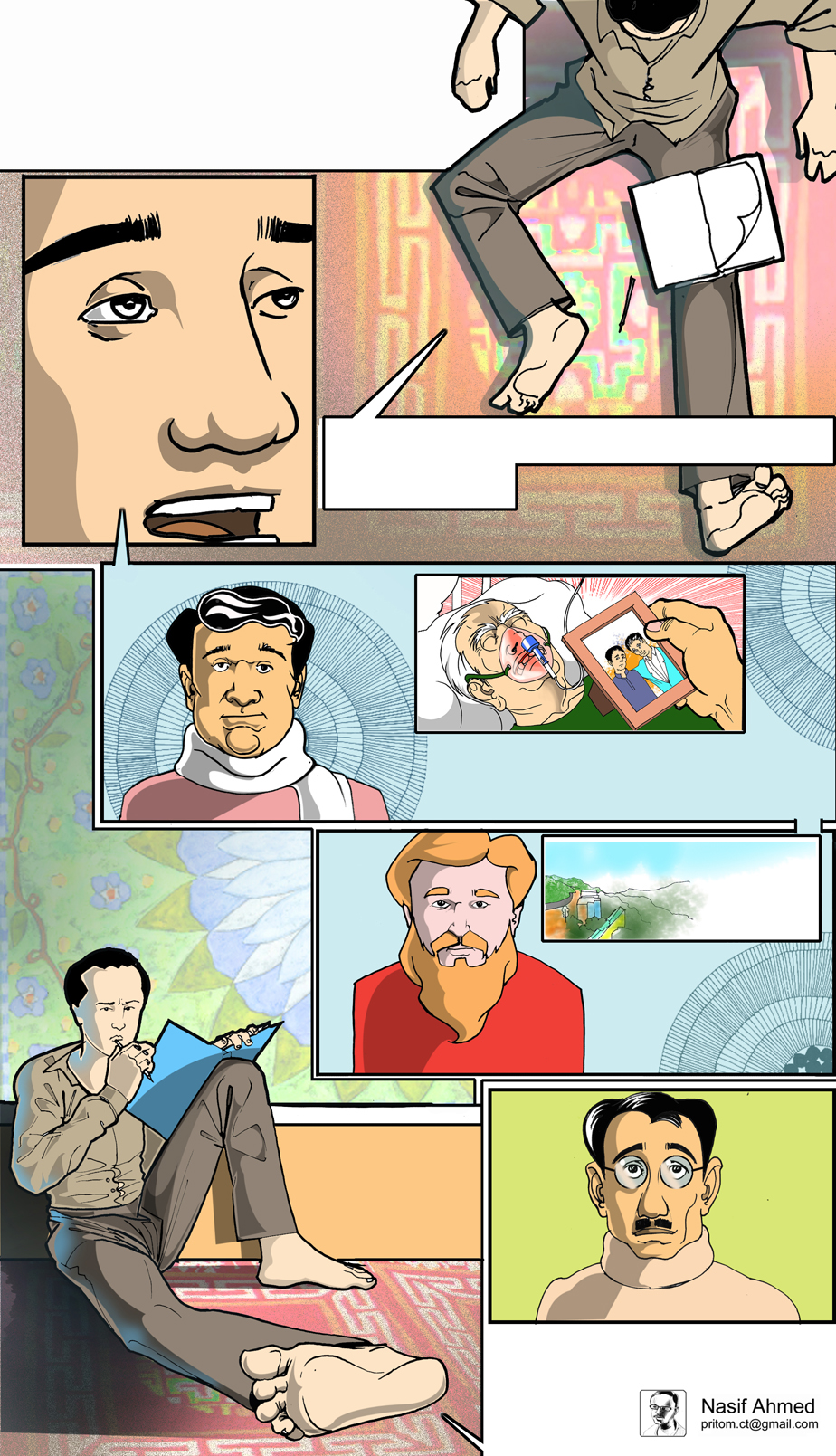 feluda comics graphicnovel gangtok SIKKIM gagtoke gondogol nasifahmed nasif pritom