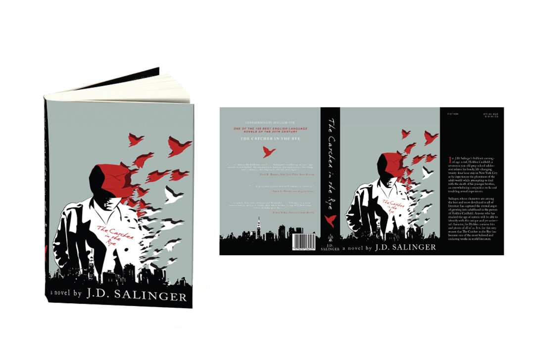 The Catcher In The Rye Book Cover On Behance