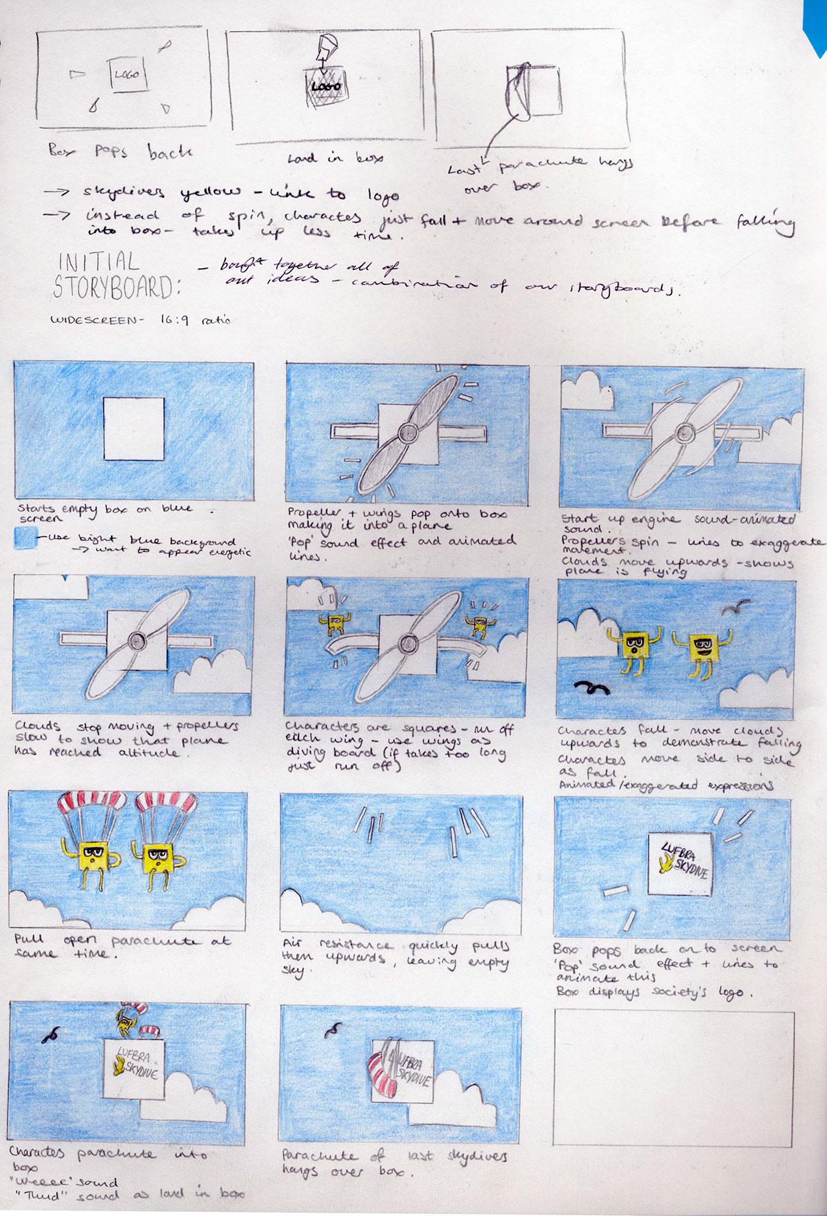 LSU Skydive Animation on Behance