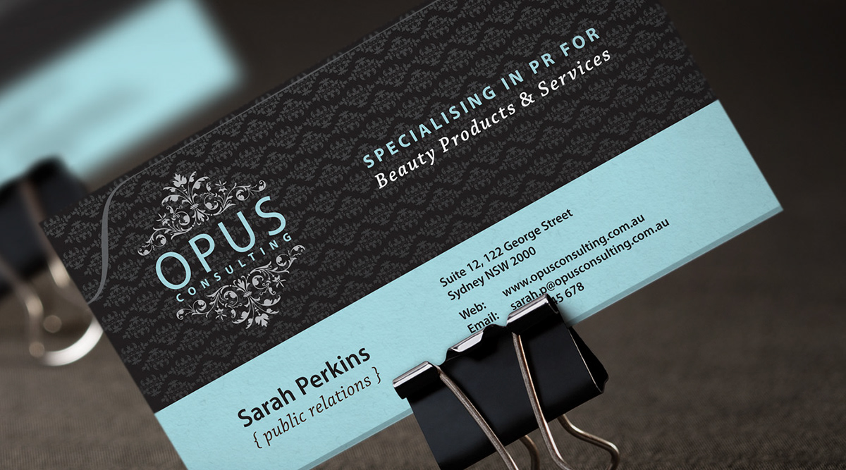 Opus Consulting Business Card Design On Behance