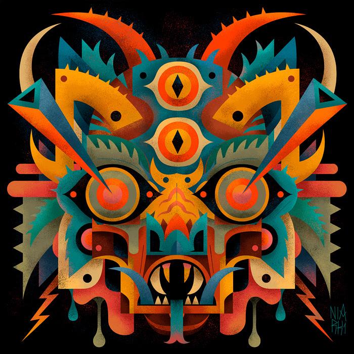 monsters niark1 edition art ILLUSTRATION  Illustrator print creative graphic skate