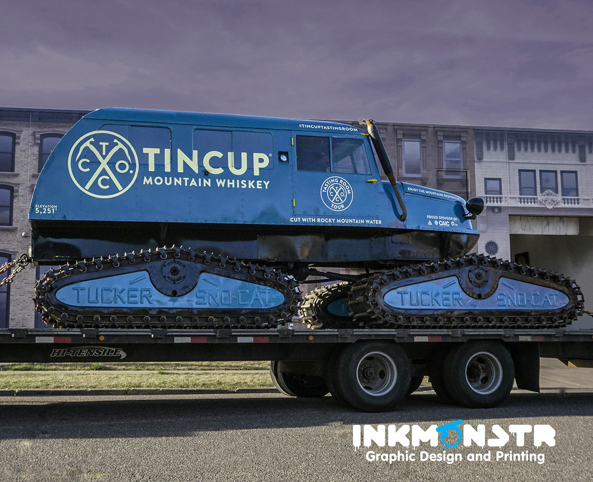 Tin Cup Snowcat Wrap on Behance