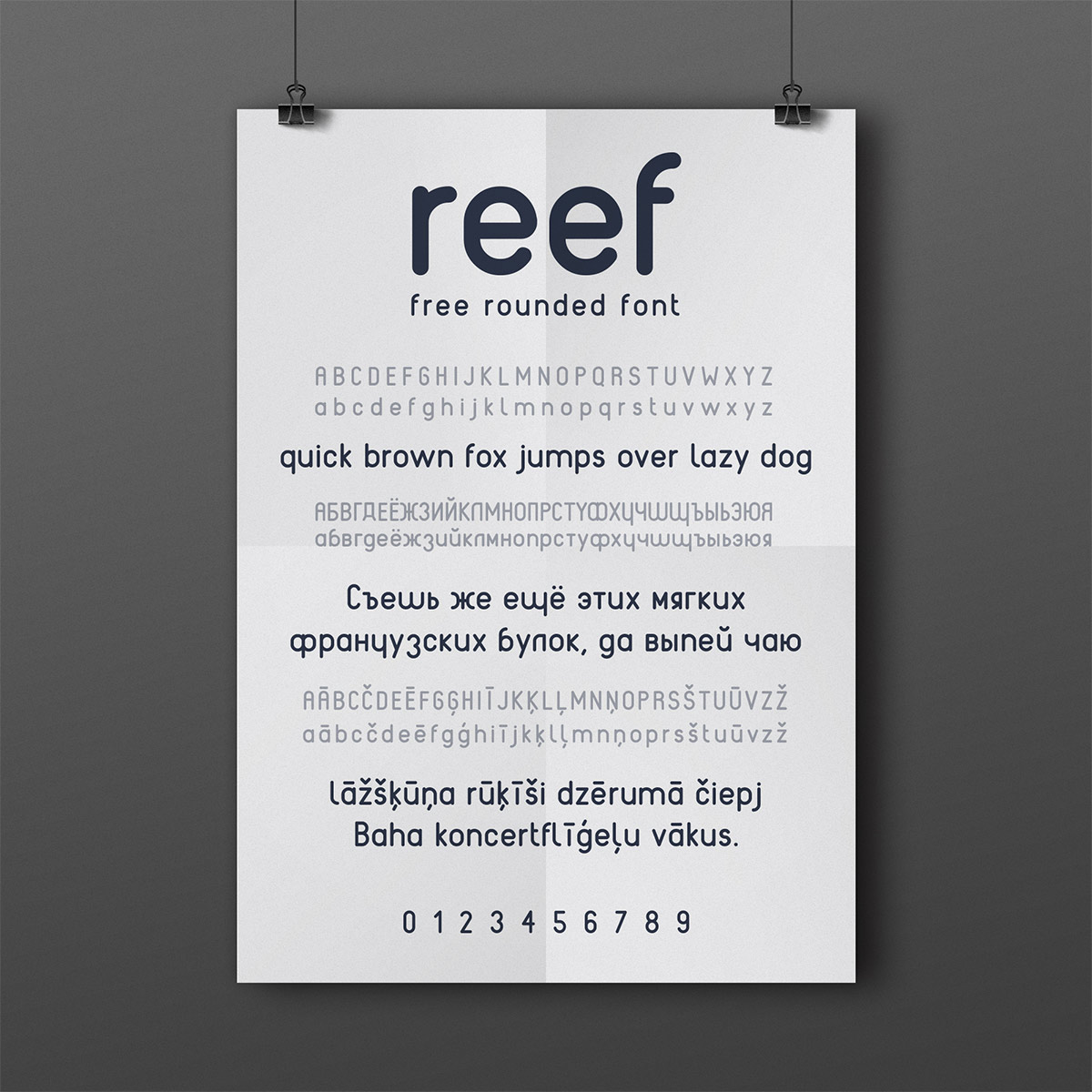 font free download reef Typeface rounded design graphic poster Cyrillic russian latvian latin extended