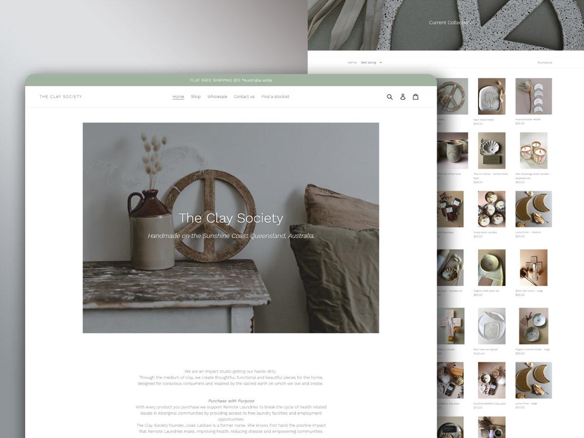 Ecommerce HTML CSS Shopify web development  Website Design