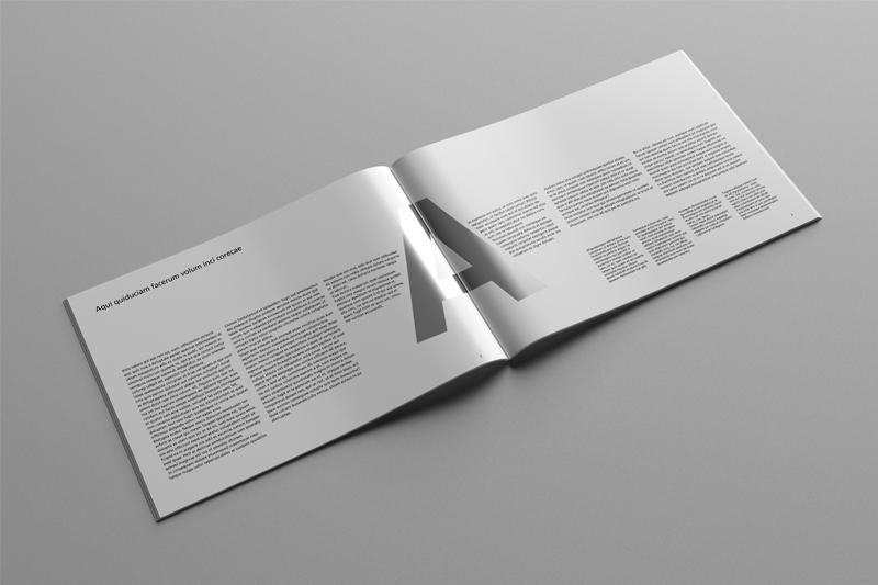 A4 Landscape Catalog Magazine Mock Up On Behance
