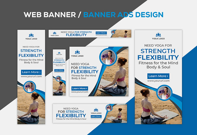 Yoga Web Banner Or Banner Ads Design On Behance