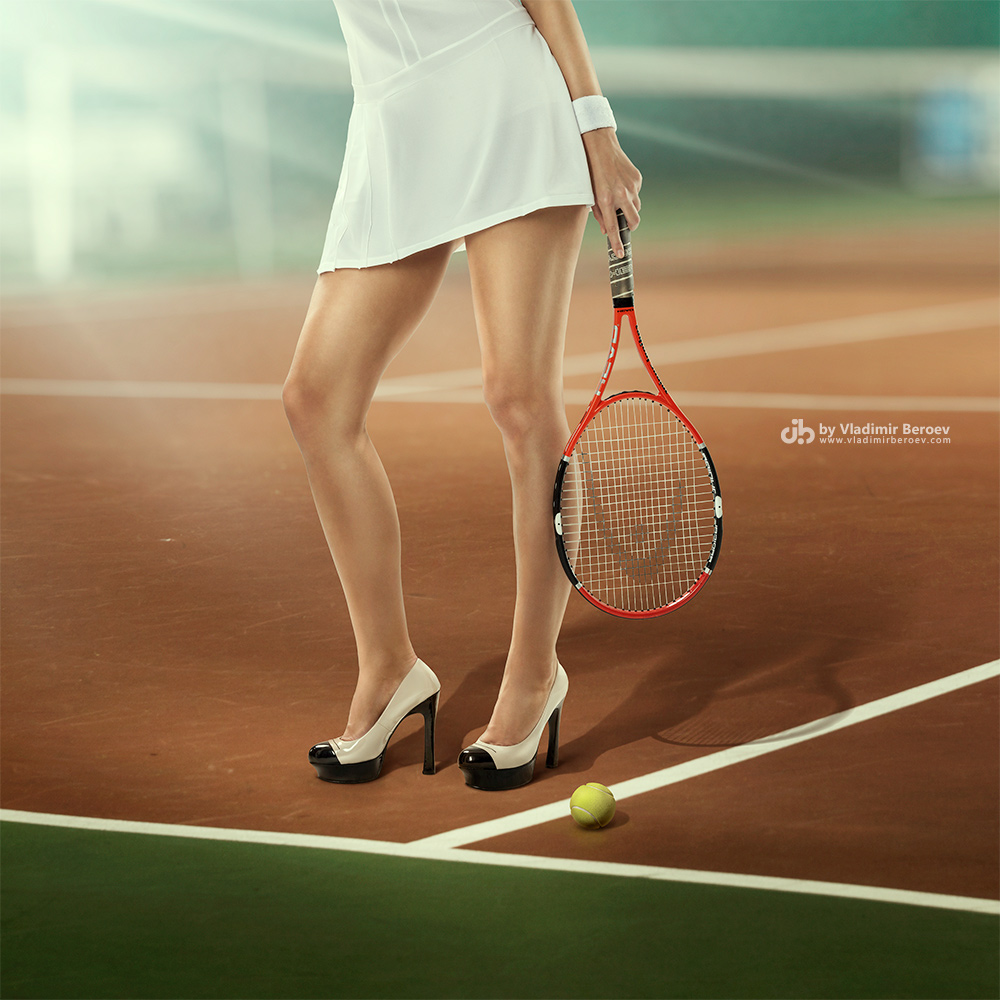 Image result for Playing Tennis in high heels