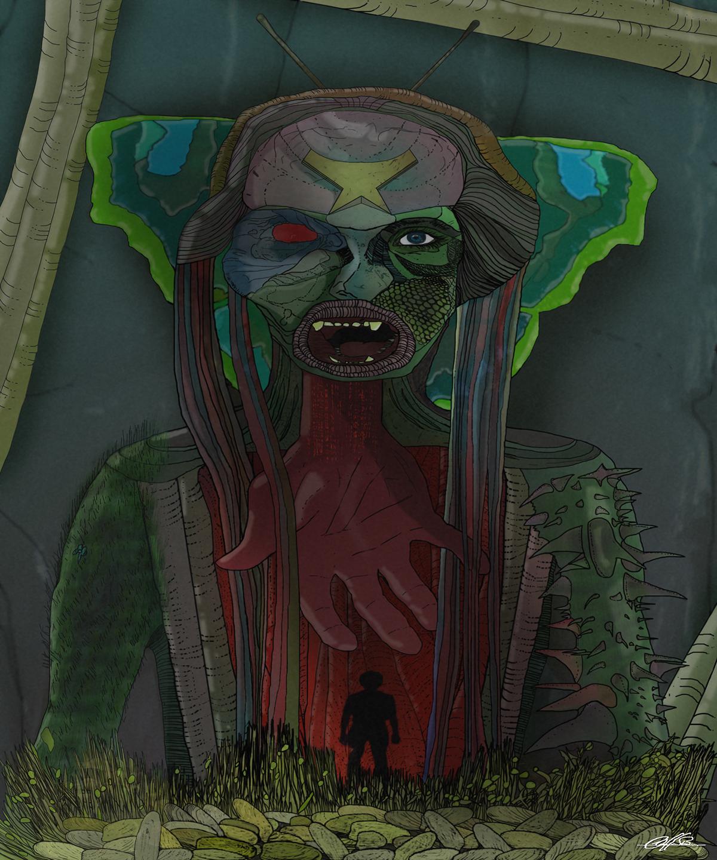 Morphogenesis genesis freehand Merge fusion science fiction fantasy bizarre weird nature mutants graphic concept