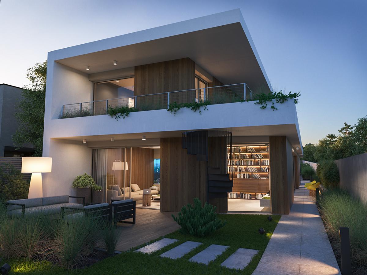 Exterior: Modern Villa / Exterior On Behance