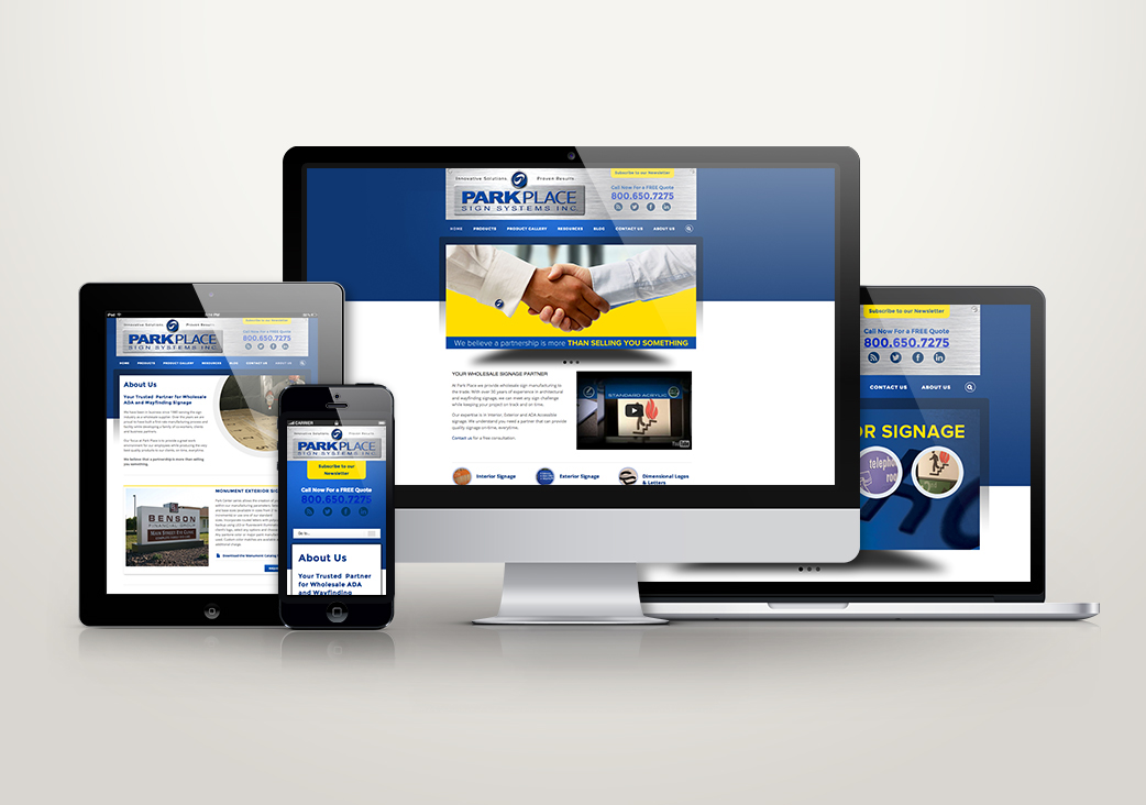 Responsive website design concept for Missouri Sign Maker