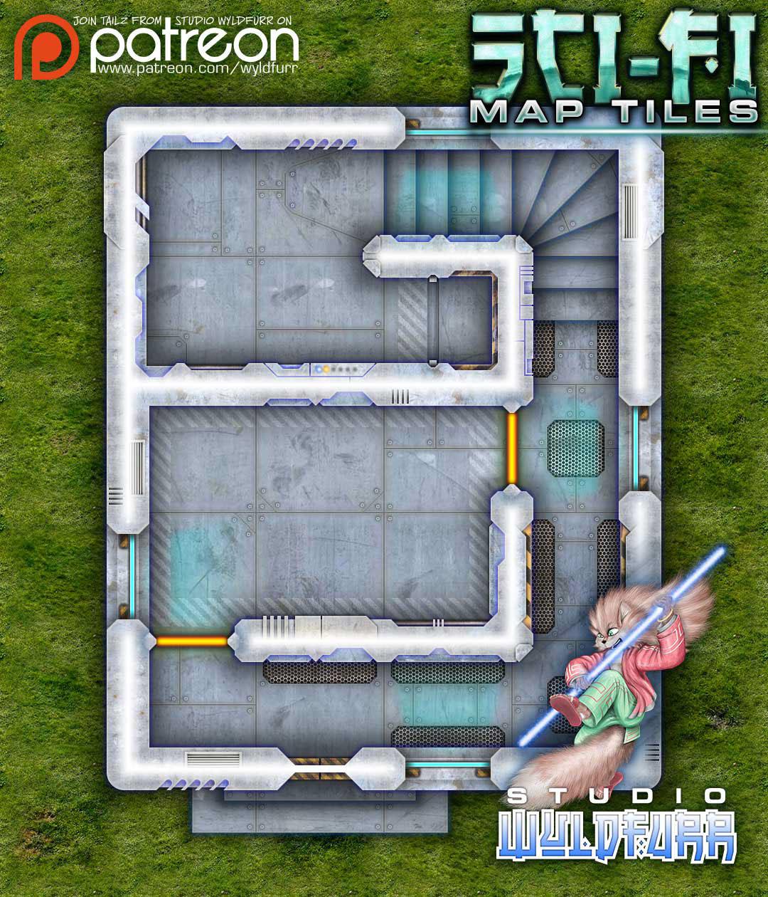 Sci-Fi Map Tiles on Behance