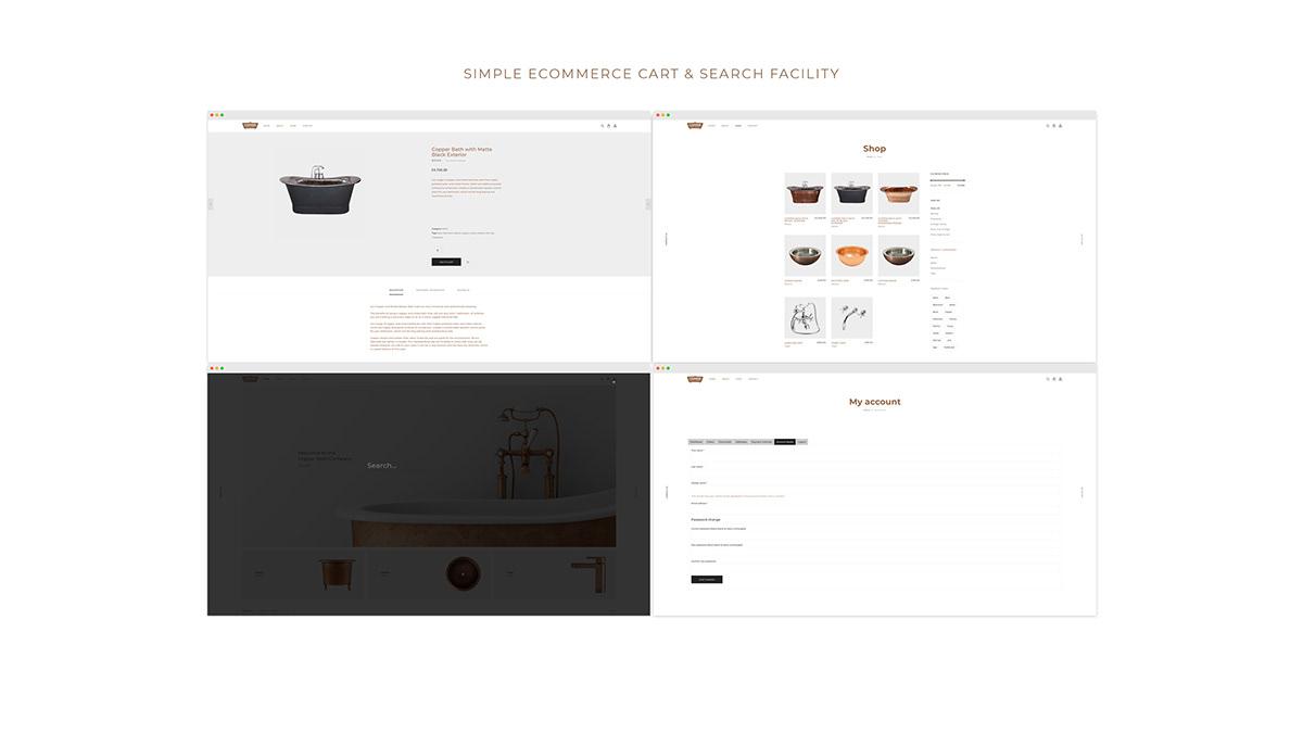 Wise Studios corporate branding copper bath company