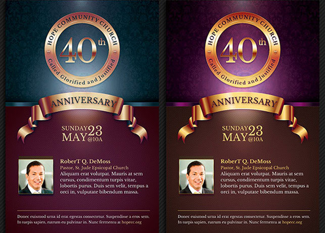 church anniversary flyer and poster template on behance
