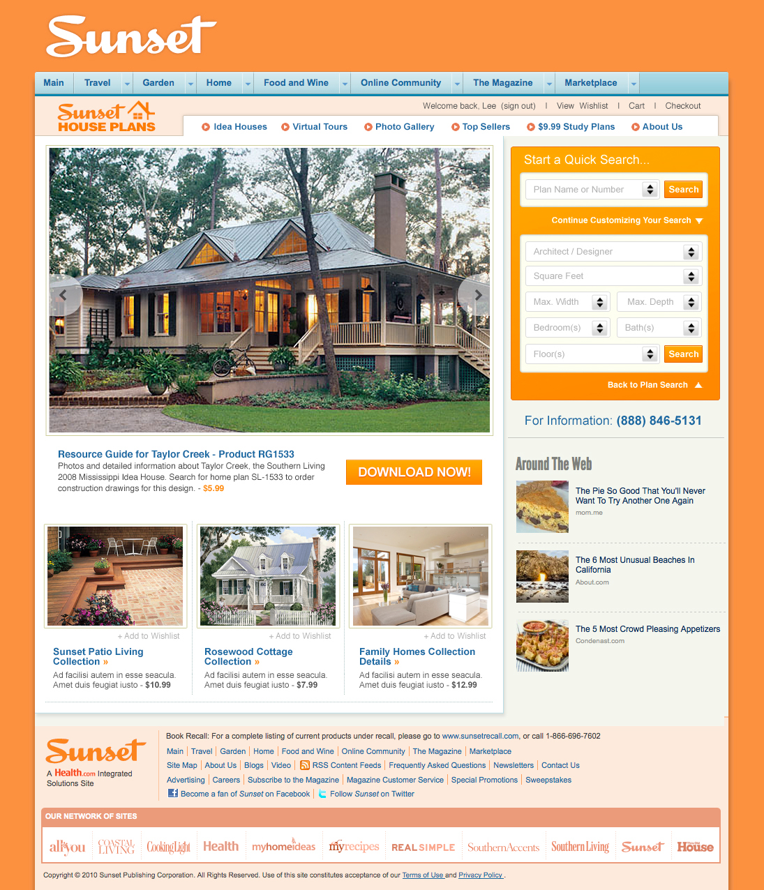 Merveilleux UI Design, CSS And Html Of House Plans Marketplace Templates. Designed To  Nest And Function Seamlessly Within SouthernLiving, Sunset, MyHomeIdeas And  ...