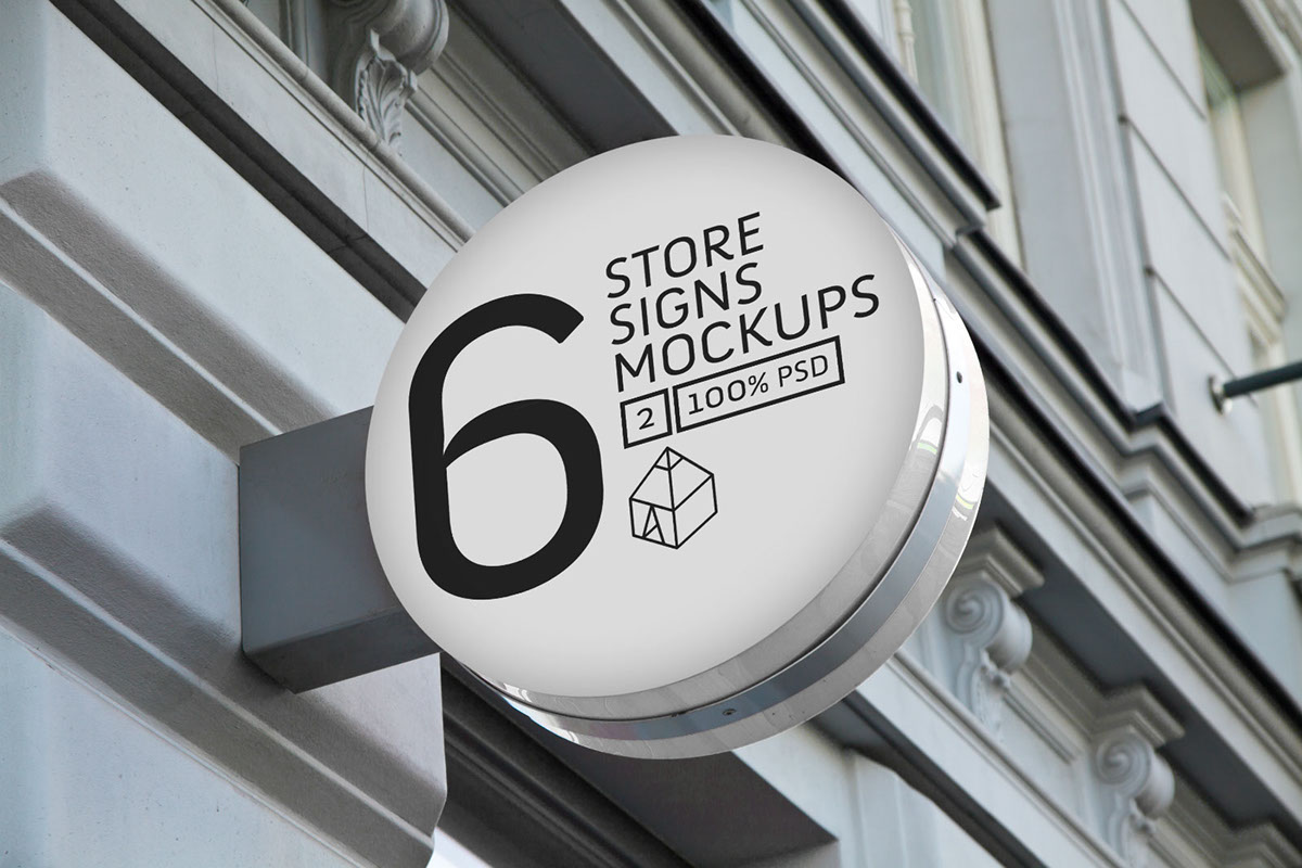 Store Signs Mock-ups 2 On Behance