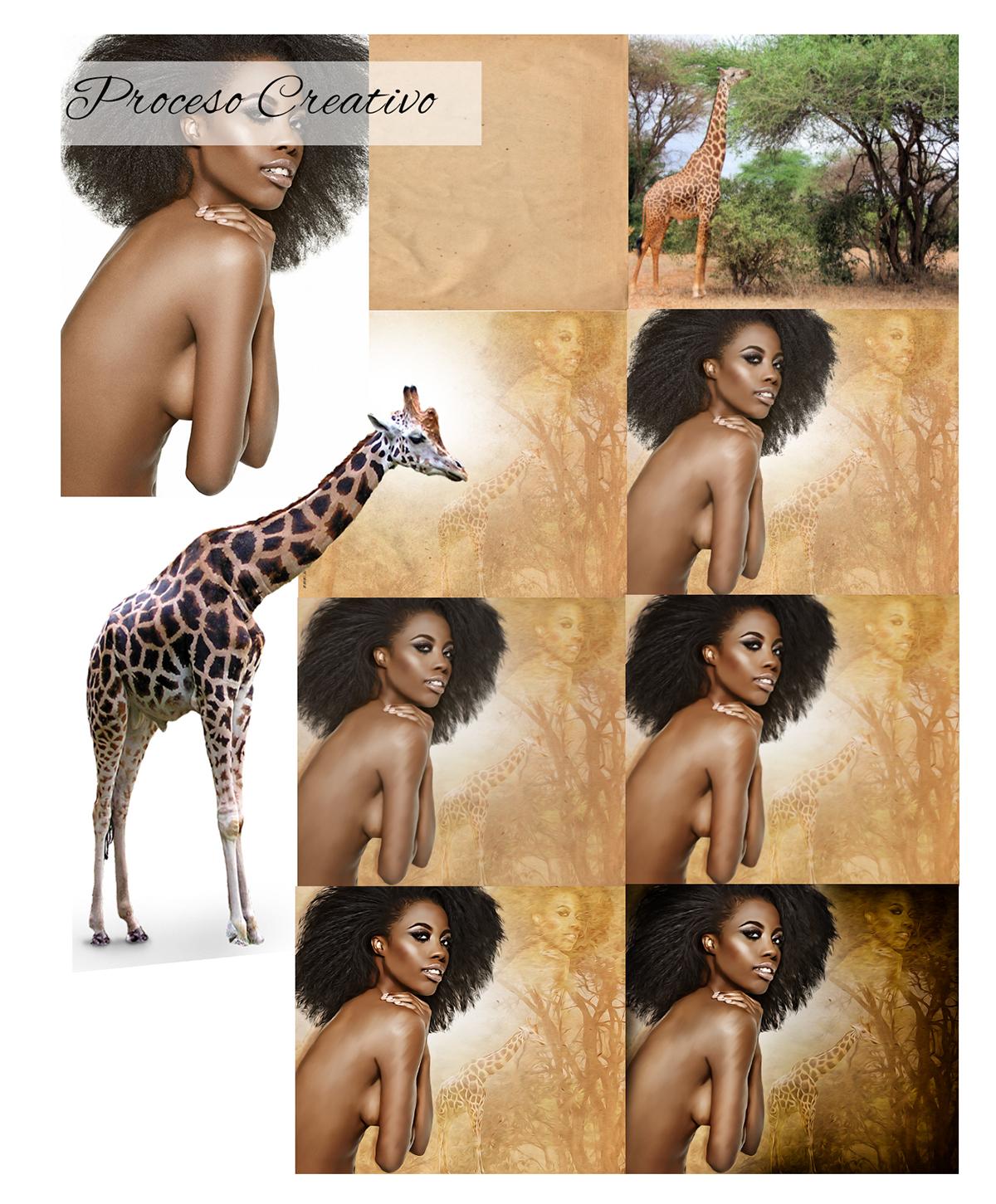 photoshop,africa,Portada Libro,pintura digittal,manipulación y montaje