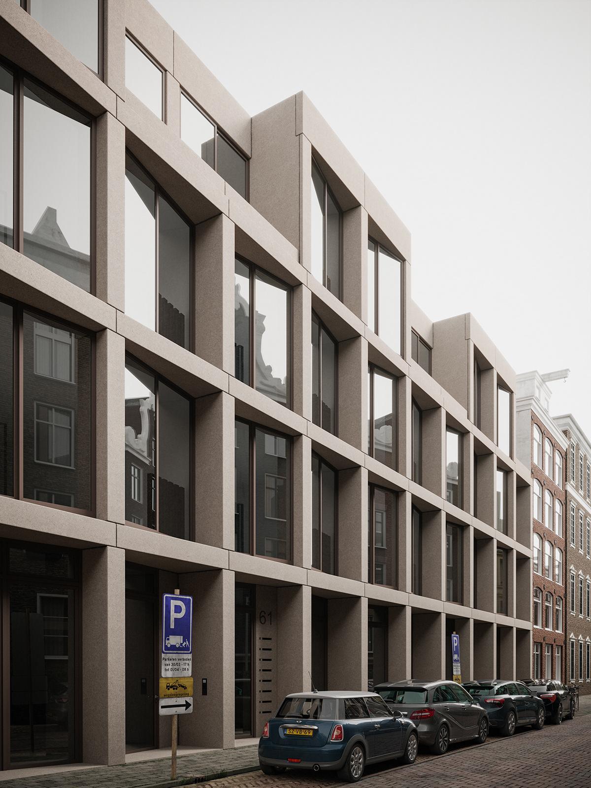 #3Dmax   #Amsterdam #architecture #CG #coronarender #coronarenderer #exterior #house #photoshop