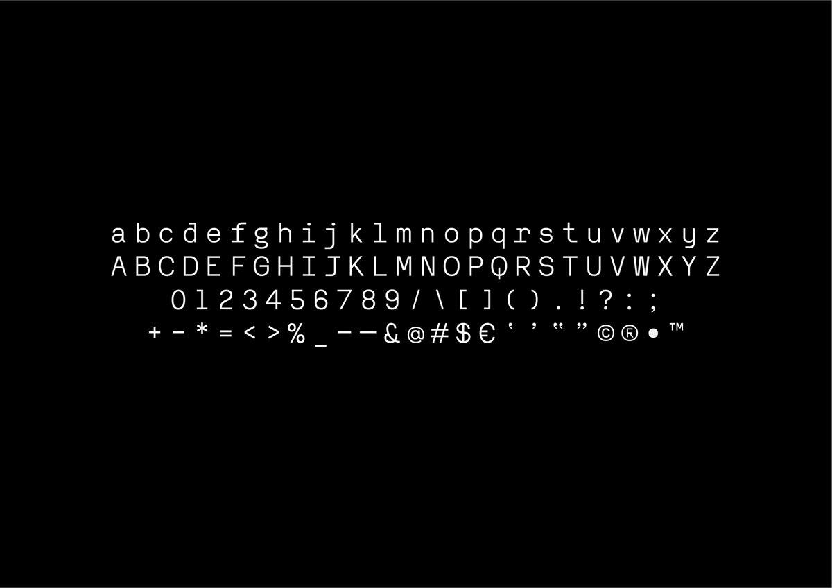 font Reno Mono Fixed Width typography