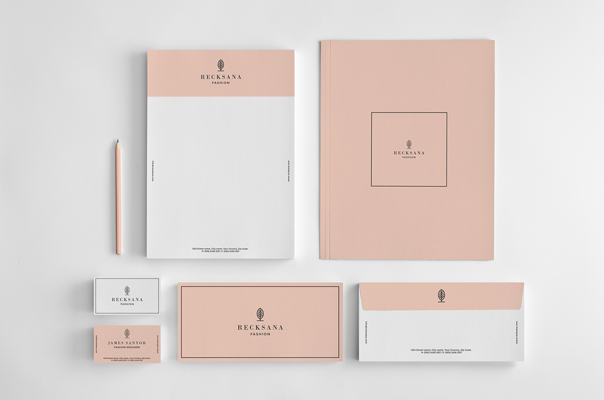 stylish stationery set on behance