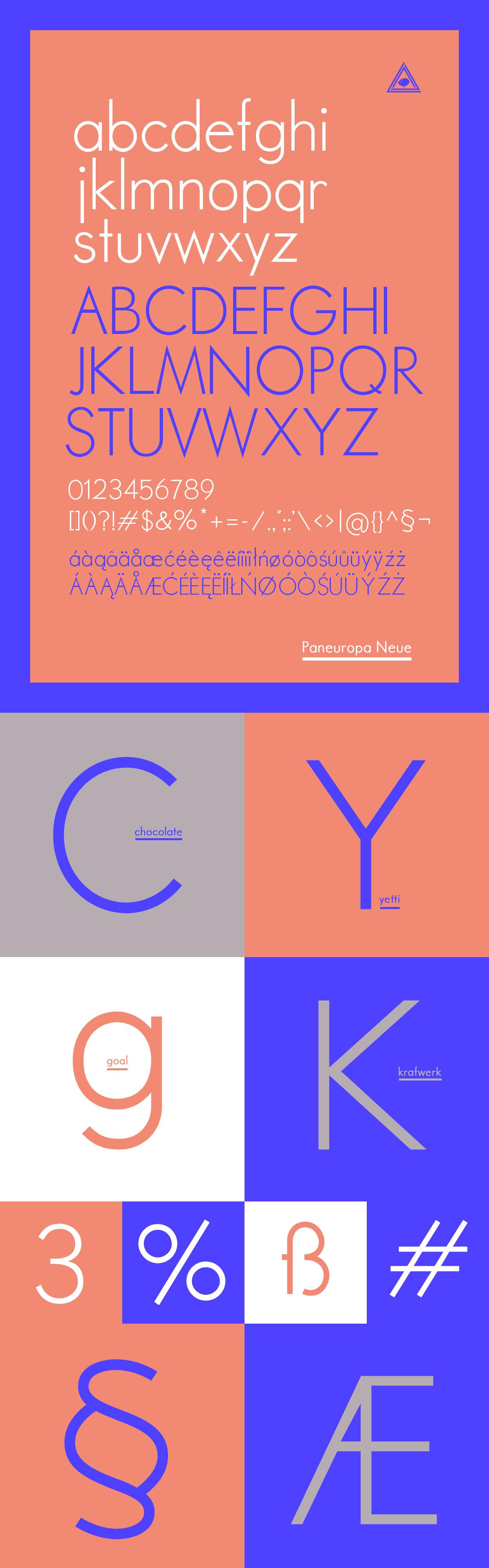 Free font font paneuropa neue typo type bojarczuk illcatdzn free typeface