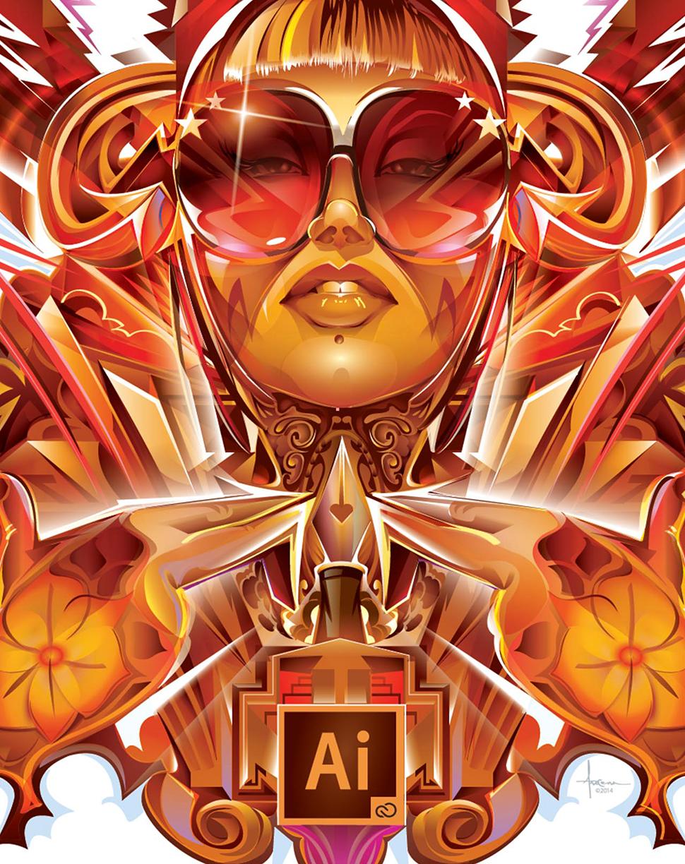 Adobe Illustrator CC2014 - VENUS REVISITED on Behance