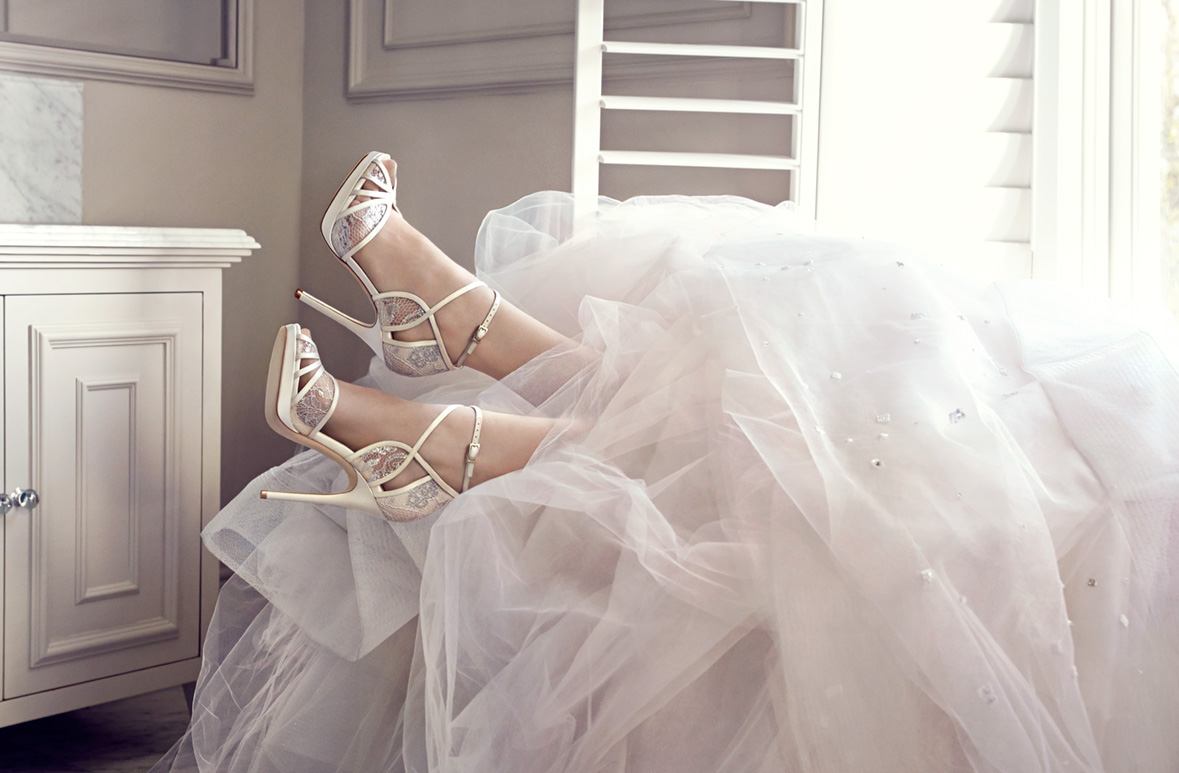 639f0d05e58 Jimmy Choo  Bridal Boutique. Photography by Tom Craig