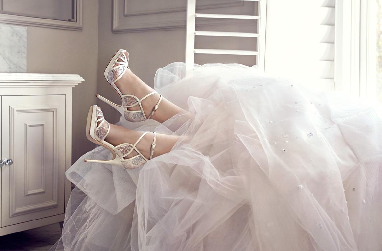9fe5a28f79ae52 Jimmy Choo  Bridal Boutique. Photography by Tom Craig
