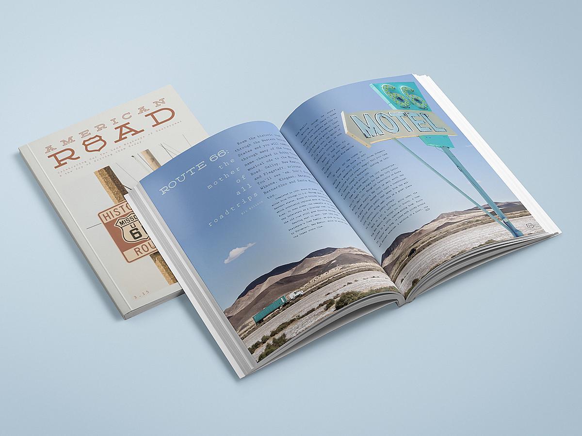 american american road road road trip trip magazine redesign