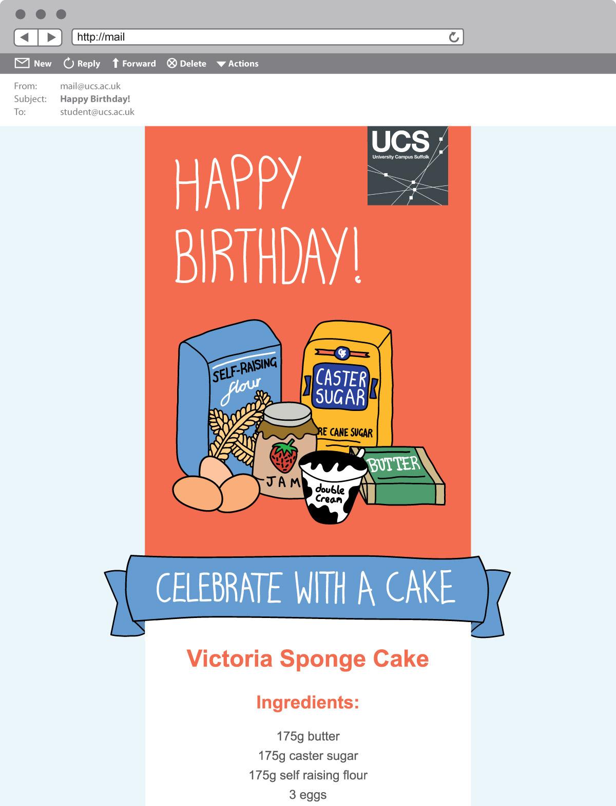 UCS HTML Birthday Card on Behance