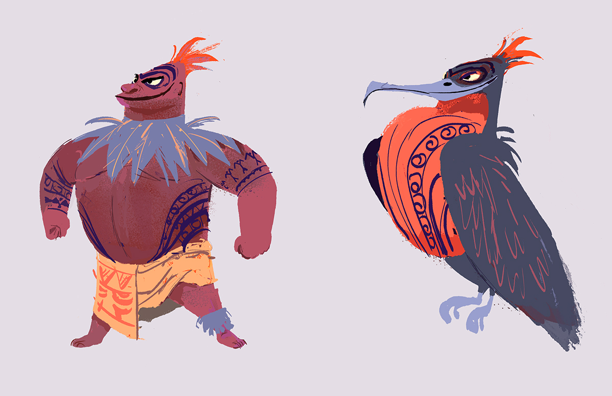 Gnomon Character Concept Design : Moana character designs on behance