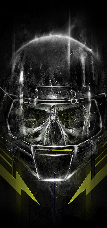 Nike nfl dominator football tee Sportsillustration skull freakshow freak Scary Halloween nikenfl
