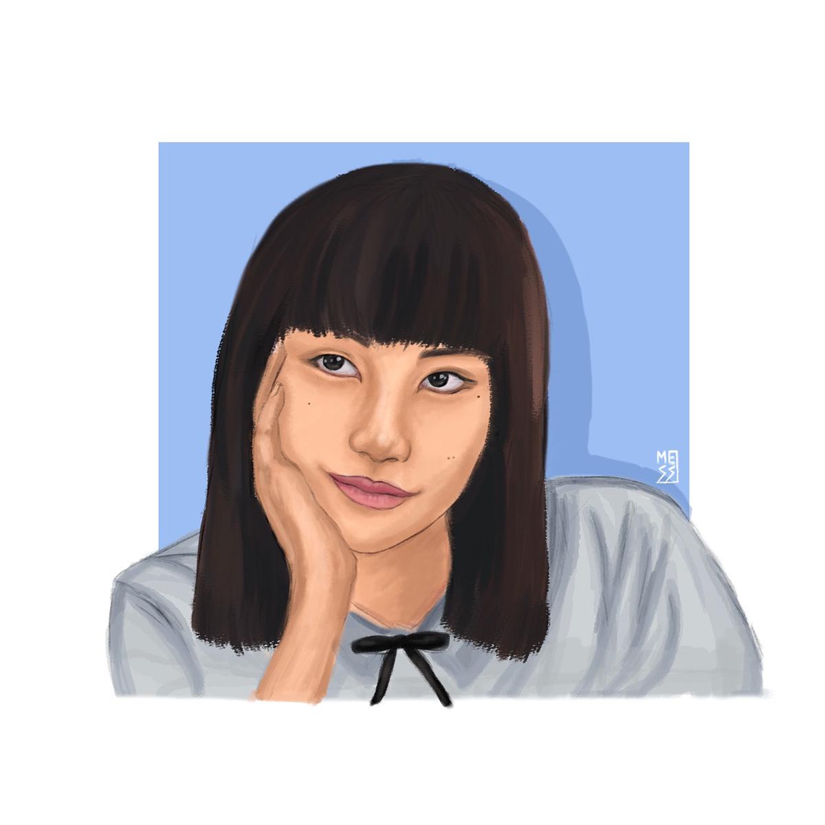 Digital Art  Drawing  fanart girl from nowhere ILLUSTRATION  Nanno Netflix