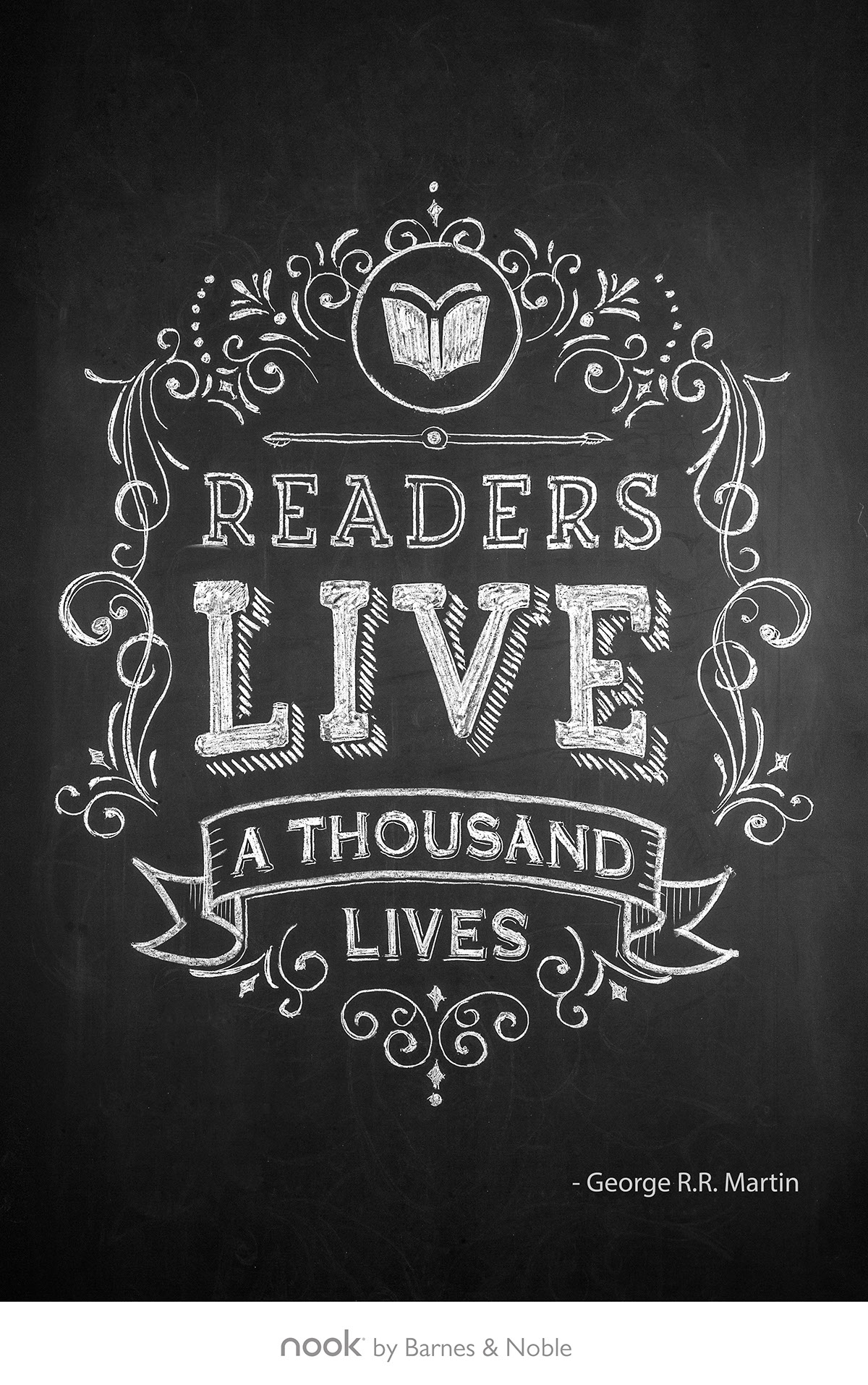 Chalk Drawings for Barnes & Noble on Behance