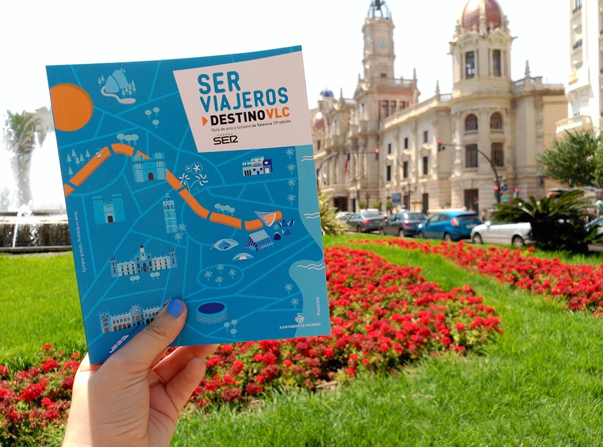 ilustracion diseño valencia mapa map maquetación cadena ser Radio guia turistica Separatas