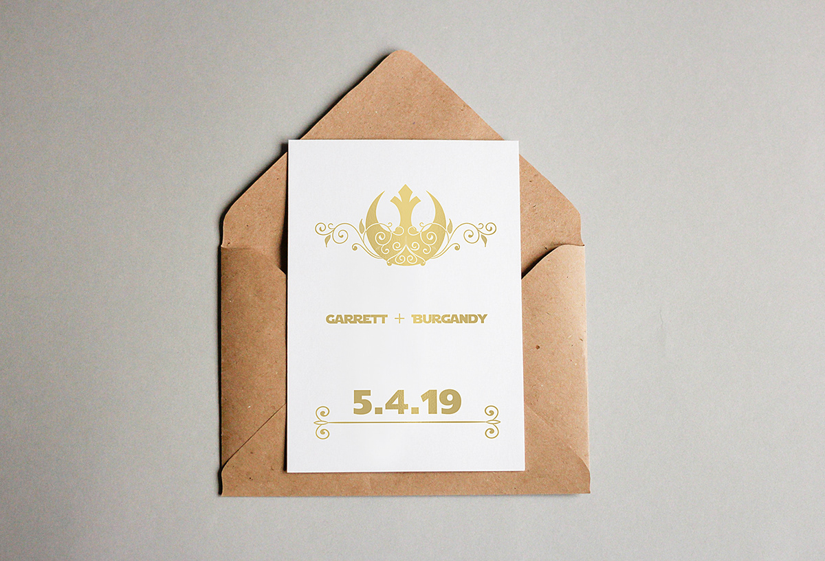 Star Wars Themed Wedding Invitation On Behance