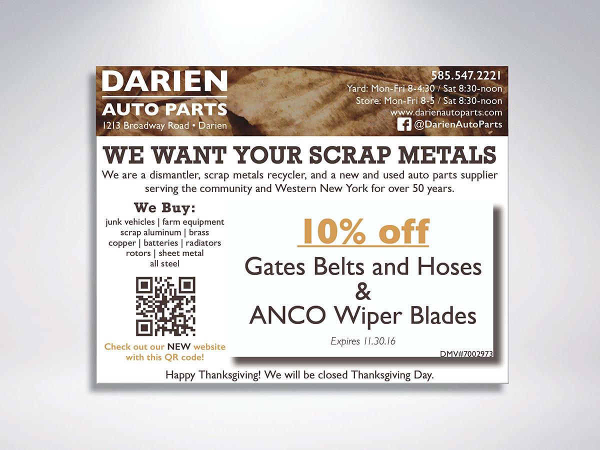Darien Auto Parts Mailers on Behance