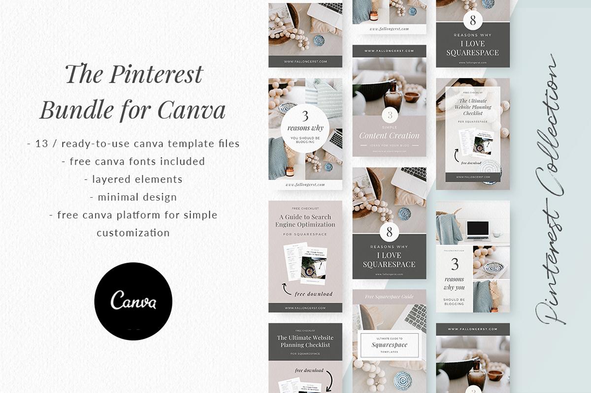 Pinterest Bundle for Canva on Behance
