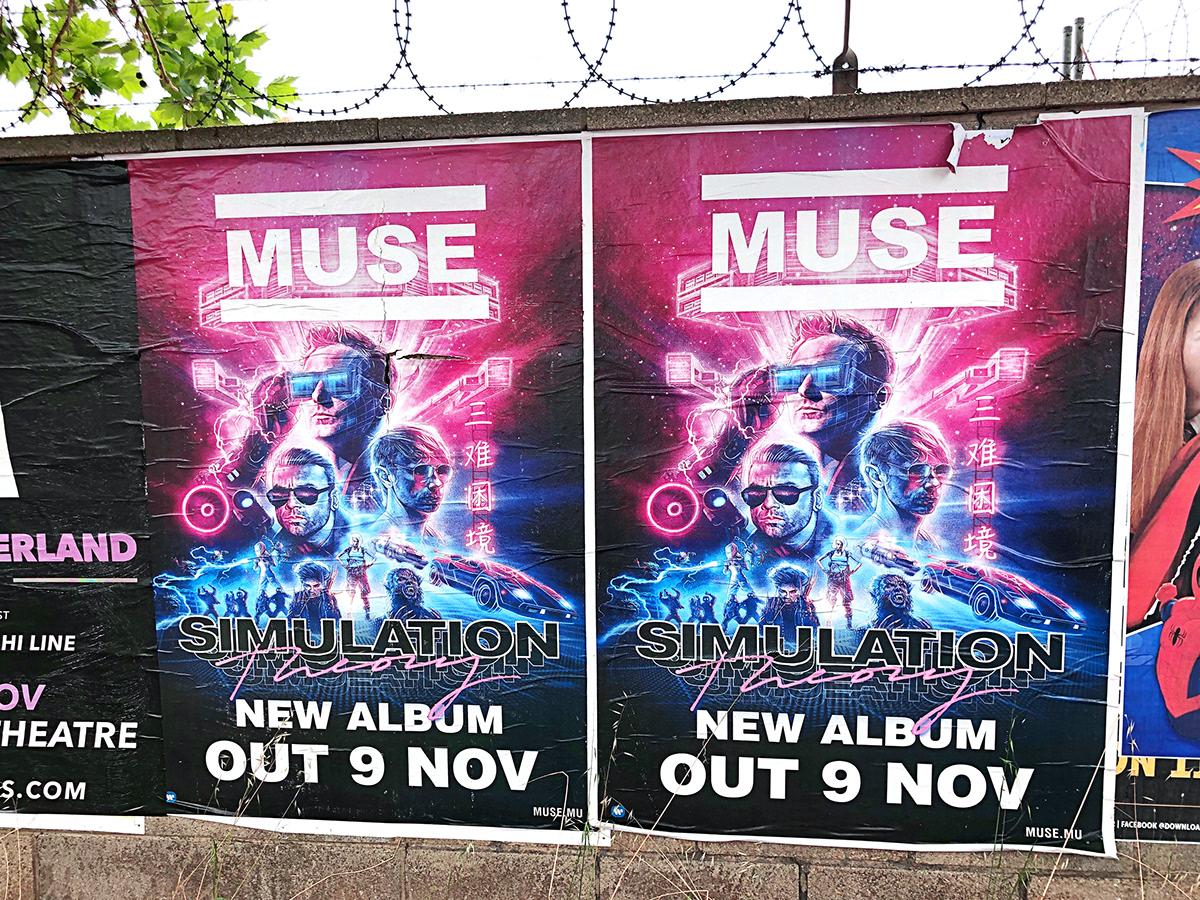 muse album art vinyl SYNTH movie poster movie art album cover Retro 80s