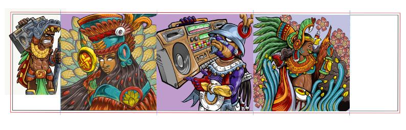 aztec,Azteca,azteca moderno,ILLUSTRATION ,Drawing ,digital,ipadpro,Mexican,chicano,east los angeles