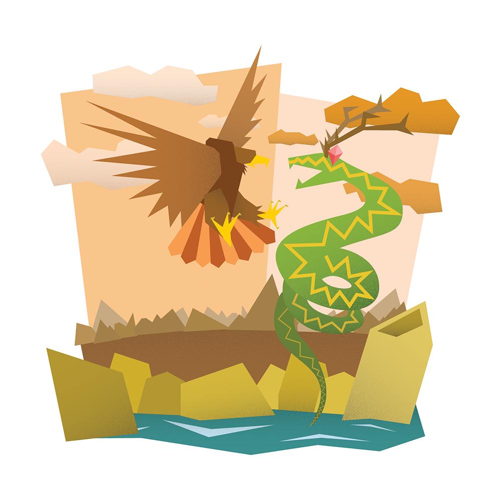 cherokee pine QR Code usa history native american vectorial illustration logo sketching draw Illustrator humbug nature design final project constellation