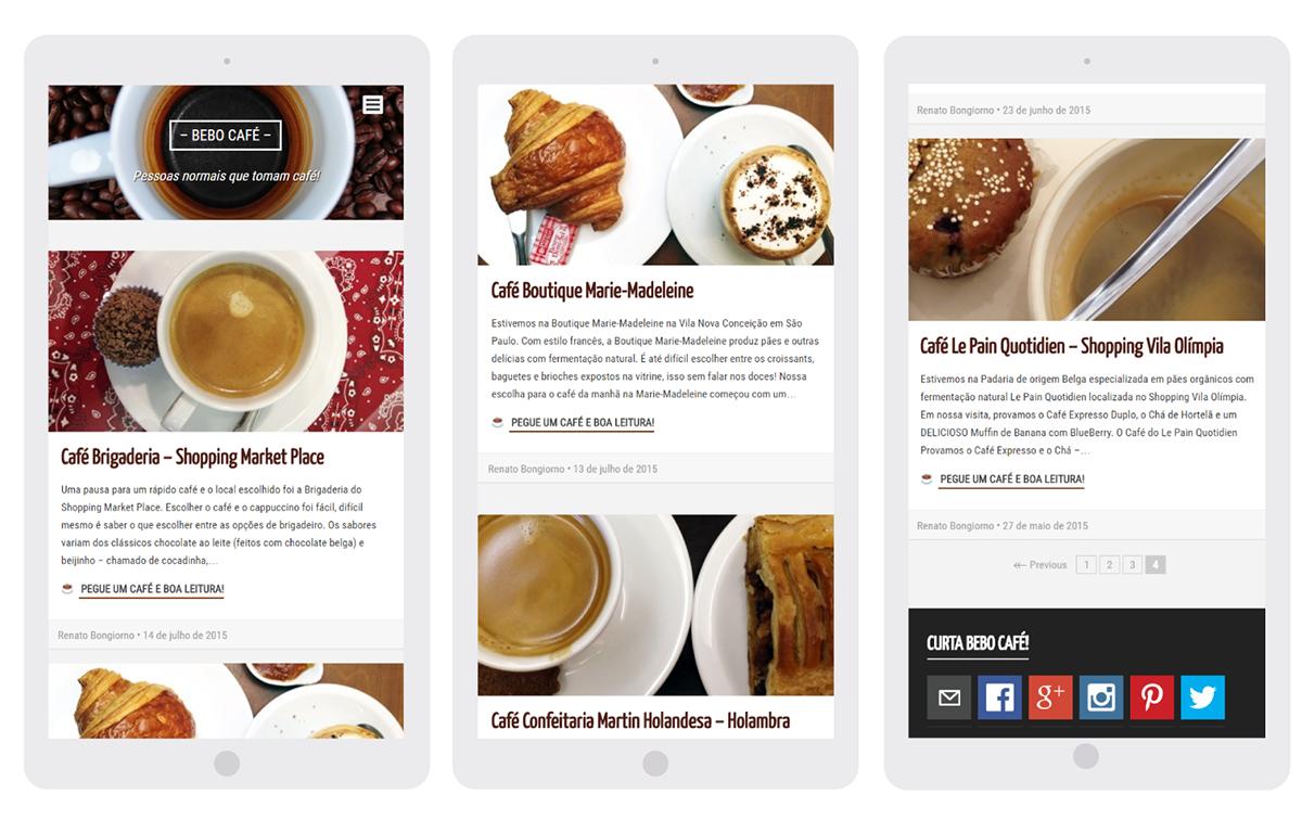 Desenvolvimento do Blog - Bebo Cafe - Table/Mobile