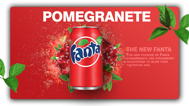 fanta pomegranate advertisment concept on behance