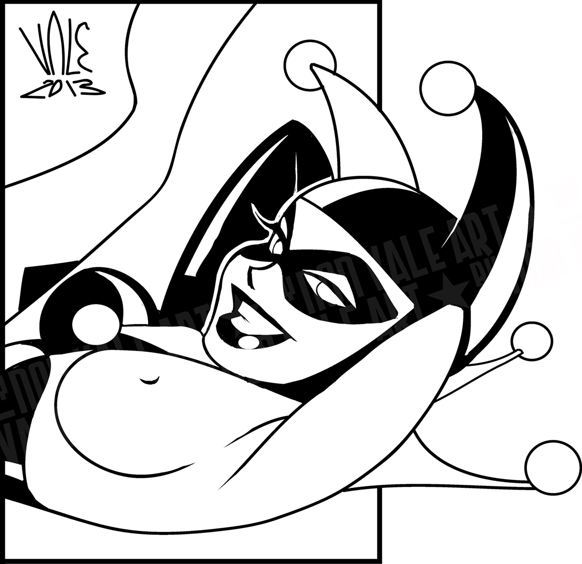 Harley Quinn In Bruce Timm S Style On Behance