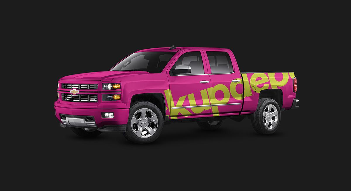 Chevy Silverado Truck Wrap PSD Mockup On Behance